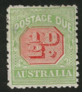 AUSTRALIA Scott J39 1917 Postage Due p 11 MH* small thin
