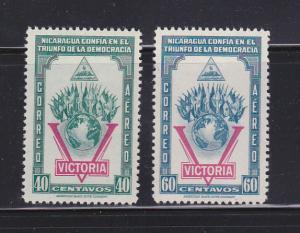Nicaragua C261-C262 Set MH Flags (B)