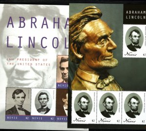 Nevis Abraham Lincoln 16thPres,US(2 SS) MNH 2011
