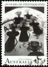 Teacup Ballet, by Olive Cotton 1935, Photography 150th, Australia SC#1217 Used