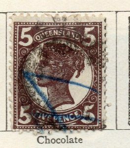 Queensland 1897 Early Issue Fine Used 5d. NW-113709