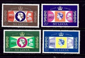 St Lucia 414-17 MNH 1977 QEII Silver Jubilee