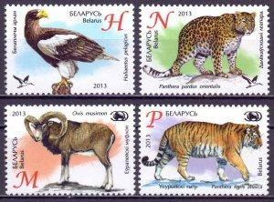 Belarus. 2013. 959-62. fauna Zoo. MNH.