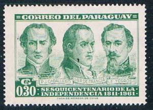 Paraguay 582 MNH Revolutionary leaders 1961 (P0302)+