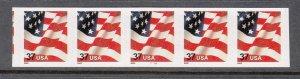 USA PNC SC# 3632 FLAG $0.37c PL# 1111A SELF ADHESIVE PNC5 MNH