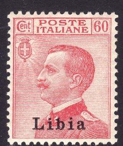 1918 Libia Italy 60¢ Victor Emmmanuel overprint MMH XF Sc# 12 CV $19.00