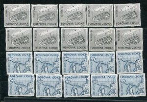 D093752 Europa CEPT 1982 History Wholesale 10 Series MNH Faroe Islands