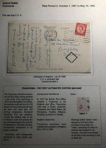 1958 Darlington England RPPC Postcard Cover To Brighton Durham Castle View
