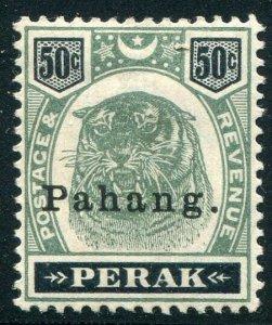 HERRICKSTAMP MALAYA: PAHANG Sc.# 18 1898 Tiger. Signed LH Mint LH