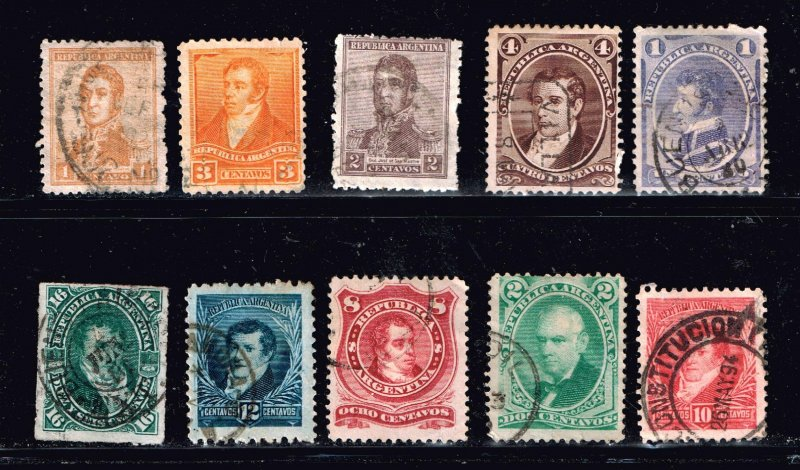 Argentina Stamp  USED STAMPS COLLECTION LOT