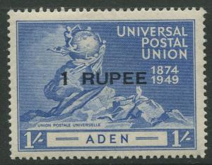 STAMP STATION PERTH Aden #35 UPU Issue 1949 MVLH CV$1.75.
