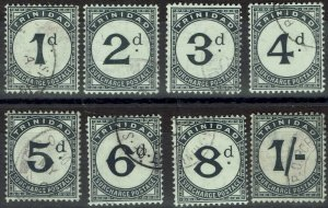 TRINIDAD 1905 POSTAGE DUE SET WMK MULTI CROWN CA USED