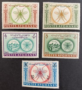 Afghanistan #674-674C,674G MH VF/XF Insects 1963 [R774]