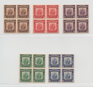 Malaya North Borneo - 1939 - SG D85-89 - MNH