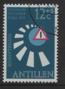 Netherlands Antilles 1973 cancelled traffic safety 12 ct  #