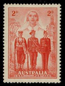 AUSTRALIA GVI SG197, 2d scarlet, M MINT.
