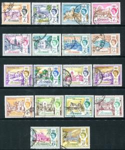 BERMUDA-1962 Set to £1 Sg 163-179 FINE USED V24382