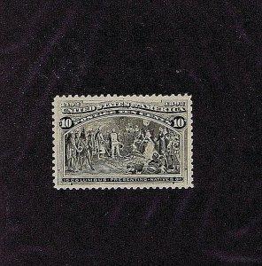 SC# 237 OG MNH 10C COLUMBUS PRESENTING NATIVES 1893, 2019 PSAG CERT GRADED 85