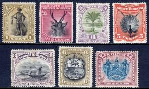NORTH BORNEO — SCOTT 59//67 (SG 66//79) — 1894 PICTORIAL ISSUE — MH — SCV $60.90
