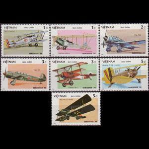 VIET NAM NORTH 1986 - Scott# 1625-31 Planes Set of 7 NH