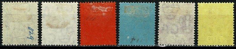 STRAITS SETTLEMENTS KE VII 1904 PART SET UNUSED(MH) SG127-37 Wmk.MCCA P.14 VGC