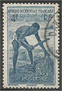 French West Africa, 1947, used 4fr Laborer . Scott 48