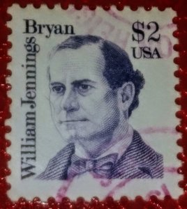 USA   #2195 – 1986 $2 Great Americans: William Jennings Bryan used XF