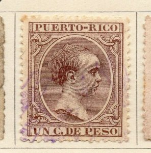 Puerto Rico 1894 Early Issue Fine Used 1c. NW-07668