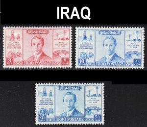 Iraq Scott 161-63 complete set F to VF mint OG H.