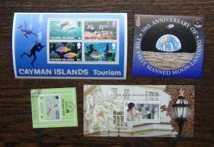 Cayman Islands 1977 Tourism 1988 Olympics 1990 Queen Mother 1999 Moon M/S MNH