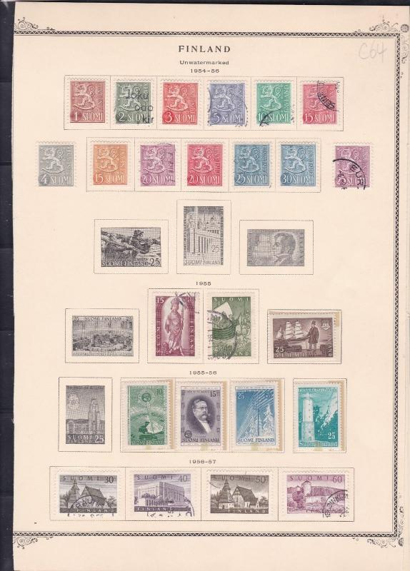 finland 1954-57 stamps page ref 18080