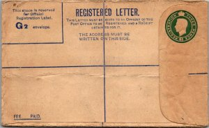 GB KGVI Unused REGISTERED Postal Stationery 3d