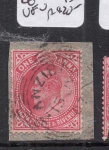 Zanzibar India Used KE 1A Copy One VFU (7dje)