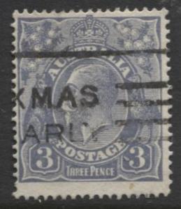 Australia - Scott 30 - KGV Head -1914 - FU - Wmk 9 - Die I -  3p Stamp3