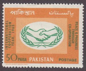 Pakistan 216 International Cooperation Year 1965