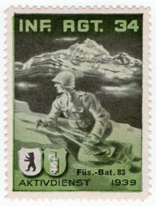(I.B) Switzerland Cinderella : Army Post (1939)