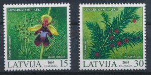 Latvia 2003 #568-9 MNH. Plants