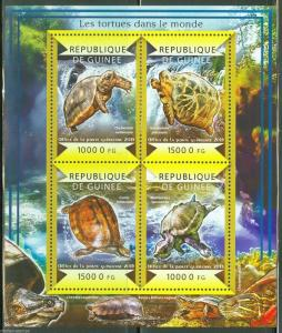 GUINEA 2015 TURTLES  OF THE WORLD SHEET MINT NH
