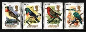 Aitutaki-Sc#O34-O37-unused NH Birds-1986-