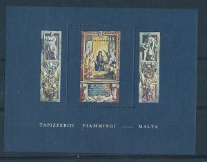 D202557 Tapestries Art S/S MNH Malta
