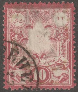 Persian stamp, Scott# 48, used, 10c, red,  #Z-47