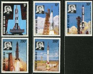 BURKINA FASO Sc#298-300, C167-169 1973 Kennedy-Space Complete Set & SS OG MNH
