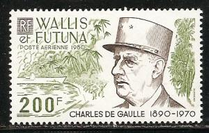 Wallis and Futuna Islands C104 1980 de Gaulle single MNH