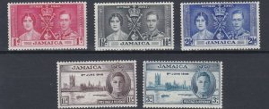 JAMAICA  1937 - 46    CORONATION   &  VICTORY SETS   MH