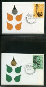 ARGENTINA 1970 COMBO FIRST DAY OF ISSUE SET OF TWO  COVERS  AS SHOWN
