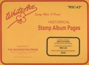 WHITE ACE 2019 US Regular Issue Singles & Coil Pairs Album Supplement RSC-43