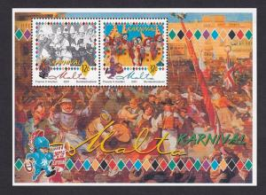 Malta   #1041   MNH  2001 sheet  carnival