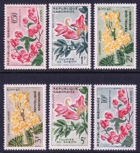Gabon 154-159 MNH CV $2.50
