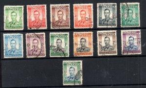 Southern Rhodesia KGVI 1937 fine used set SG40-52 WS18807
