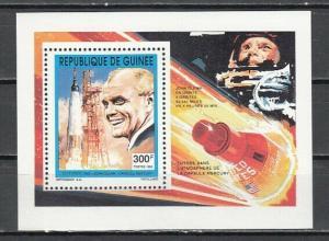 Guinea, Scott cat. 1209. John Glenn, Astronaut value as a s/sheet.